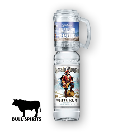 Captain Morgan White Rum mit Glaskrug